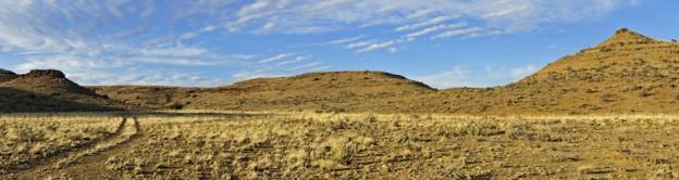 paysage du Karoo pano